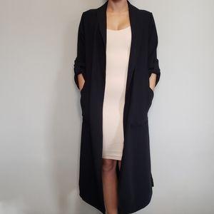 Aritzia Babaton Kahlo Robe Trench Coat XS Black